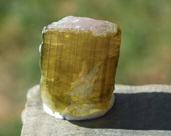 Watermelon Tourmaline, Raw Crystal, Rough Unpolished Stone, Pink Green Brazilian Mineral Rock - 4.1g/20.5ct - 16mm Virgo ~ Gemini (17-713)