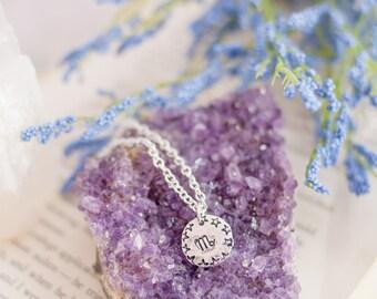 Zodiac Necklace - Astrology Necklace - Silver Zodiac Necklace - Witch Necklace - Boho Necklace