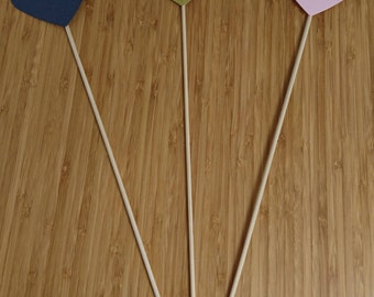 x50 Heart lollipops, hearts on a stick, custom wedding decorations, handmade wedding, entrance decorations, heart decorations