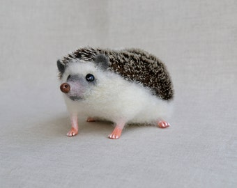 Hedgehog Felt toys Needle Wool Animals Sculpture Felted Hedgehog Handmade gift ... I will make this item for your order