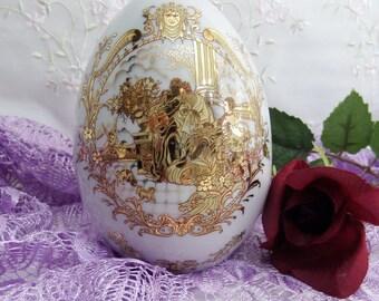 Vintage Satsuma Porcelain Egg