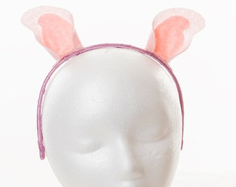 Wool felt pig ears headband pig ears headband costume animal ear headband halloween costume cosplay pronofoot35fo Images