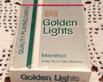 Playing Cards: Kent Golden Light Menthol