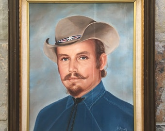 Vintage Portrait of a Cowboy