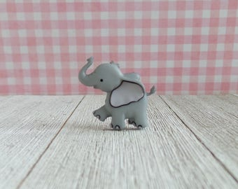 Elephant - Animal - Cute Animals - Strength - Honor - Patience - Lapel Pin