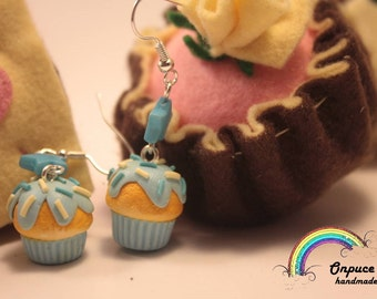 glazed muffins cupcake handmade earrings