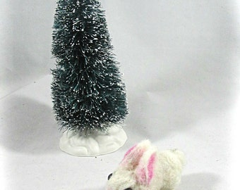 Snow the Felted Baby Bunny