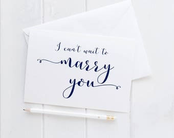 I Can't Wait To Marry You Wedding Card. I Can't Wait To Marry You Card. Wedding Card For Fiance. To My Fiance Card. Husband Card. Wife Card.