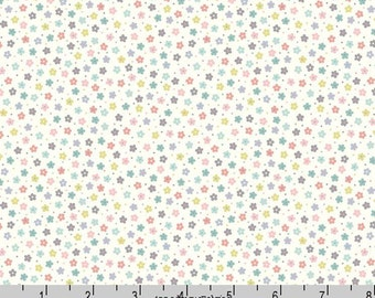Pastel Floral Fabric, Lewis and Irene Salisbury Spring A206 1, Tiny Flower Quilt Fabric, Spring & Easter Fabric, Floral Quilt Fabric, Cotton
