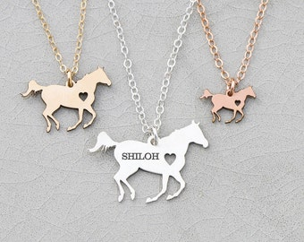 SALE • Racing Horse Necklace • Personalized Horse Lover Gift Silver Horse • Barrel Racing Animal Running Horse • Rodeo Equestrian Gift Ideas