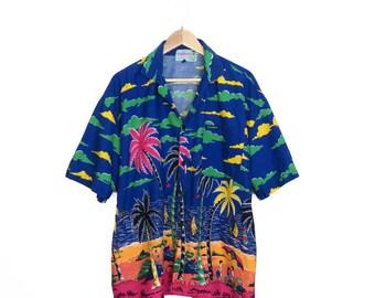 Vintage 80s/90s Hawaiian Shirt Size XL