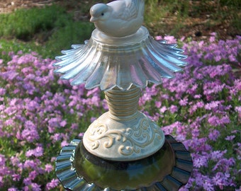 Earth-Tone Garden Stake With Dove