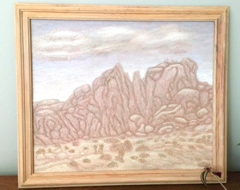 Desert Painting Framed Joshua Tree Original