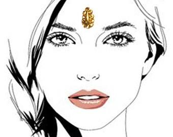 Face Jewel Gold Tear Drop Bindi Preimum Face and Eyebrow Fancy Decorations Non PIERCING