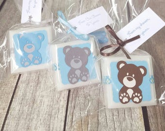 16 boy baby shower favors - teddy bear baby shower decorations