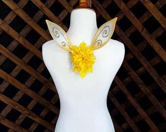 Gold Fascinator Fairy Pixie Wings