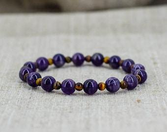 Birthday gift-for-mom gift-for-wife gift-for-Men gift-for-boyfriend gift-for-girlfriend gift Amethyst bracelet Mala bracelet men jewelry