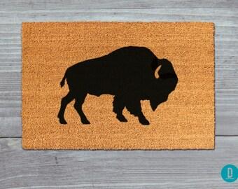 Buffalo Doormat, Buffalo Door Mat, Buffalo Welcome Mat, Doormat, Door Mat, Animal Doormat, Bison Door Mat, Welcome Mat, Bison Door mat