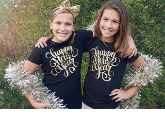 New years eve shirts, Happy new year 2017, New years shirts, Girls New Years eve shirts, New years outfit, 2017 shirts