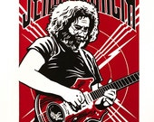Jerry Garcia 2-Color Limited Edition Screenprint (Flash Gordon style)