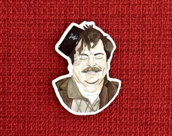 Ron Swanson - Parks and Recreation - Lapel Pin