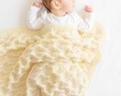 PDF KNITTING PATTERN Pirin Blanket - Knit Blanket Pattern - Throw - Knit Baby Blanket Pattern - Lace Blanket - Hand Knit Blanket - Gift