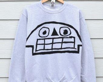 Skull Sweatshirts Best Friend Gift Sweater Gift For Him Skulls Graphic Sweatshirt Grey Sweater Jumpers Funny Gifts Grey Jumper