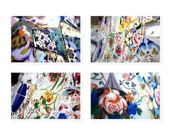 Mosaic Wall Art, Antoni Gaudi, Floral Wall Art, Housewarming gift, Living Room Art, Bedroom Art, Gift For Home
