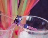 Luna Anime Cat Earring / Glitter Purple stud / Sailor Moon Earring / Kawaii Cat Gift