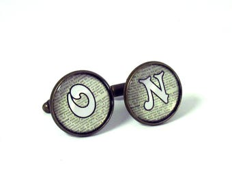 Custom Cufflinks  , Monogram Cufflinks , Personalized Mens Cufflinks , Initial Cufflinks , Groomsmen Cufflinks , Wedding Cufflinks