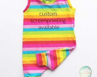 Rainbow Baby Summer Jumpsuit Short Style Romper