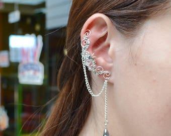 Cartilage earrings, ear cuff, wedding earrings, non pierced ear cuff, bridal ear cuff, clip on earcuff, ear jacket, wedding gift, ear cuffs