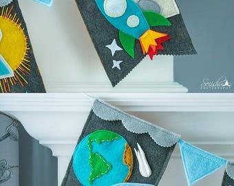 Space Banner, Girl  Space Nursery, Boy Space Nursery, Space Baby Shower Banner, Space Birthday Banner, Planets Rocket Ship Nursery Banner