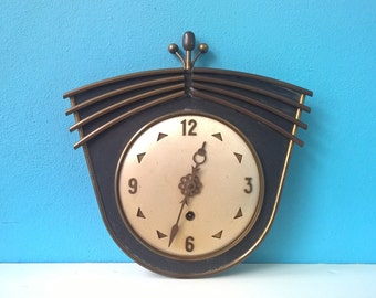 vintage retro art- deco style  wall clock