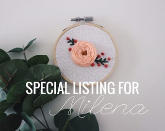 Special Listing for Milena // Mini Rose Embroidery