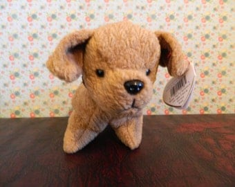 "TY Brown Terrier Dog Beanie Baby ""Tuffy"" (B)"