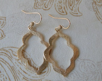 Gold dangle earrings, statement earrings, dangle earrings, boho jewelry, beach chic, trendy jewelry, etsy finds, marquis shape