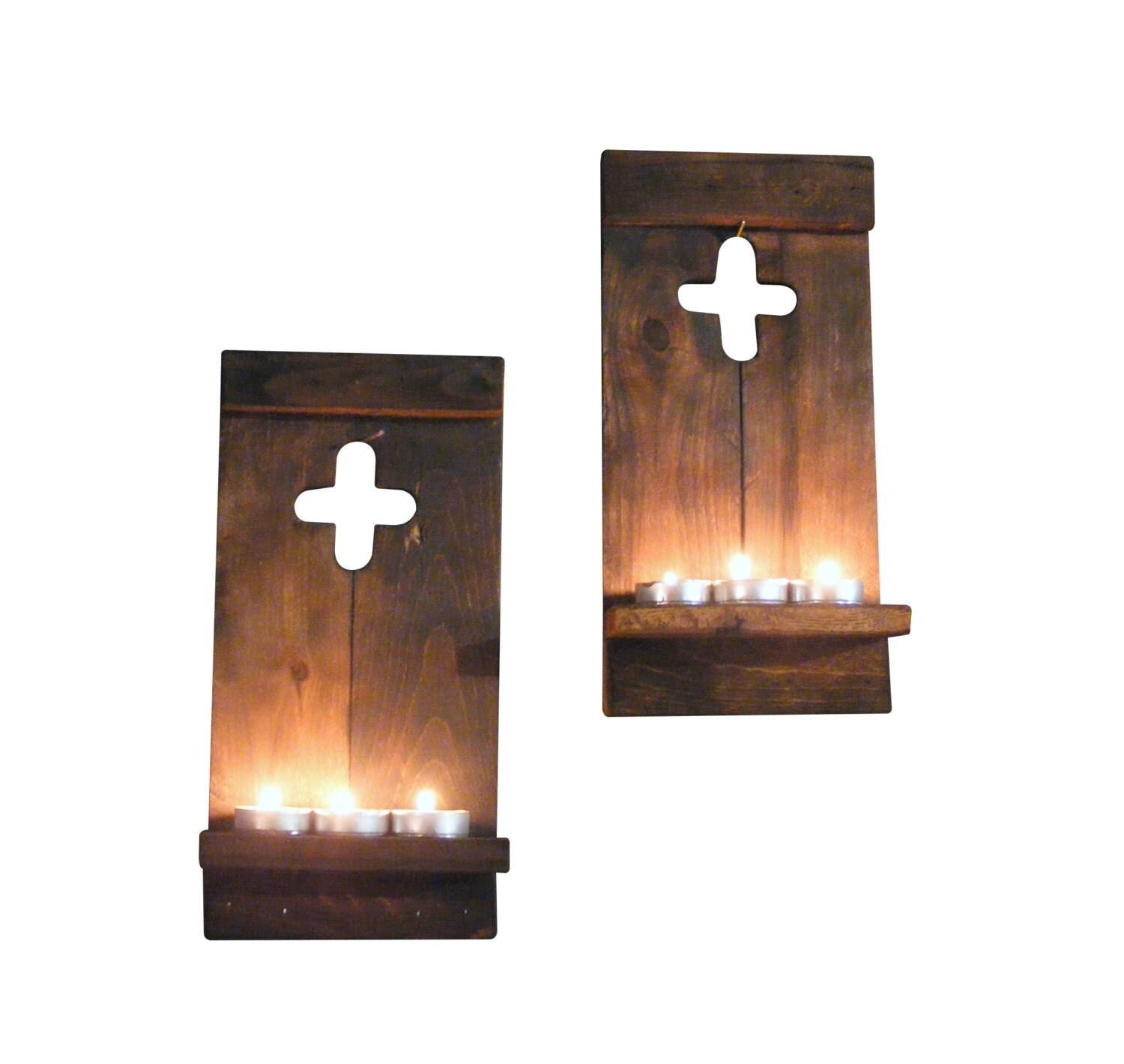 Rustic Wall Lights Nz : Rustic Wall Sconce Reclaimed Wood Wall Cross by GFTWoodcraft