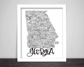 Georgia State Print