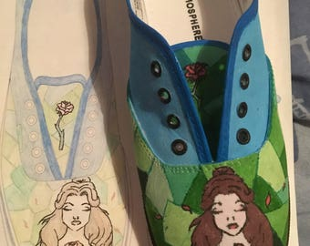 Handmade Beauty and the Beast inspired Shoes