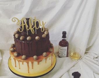 Age cake topper
