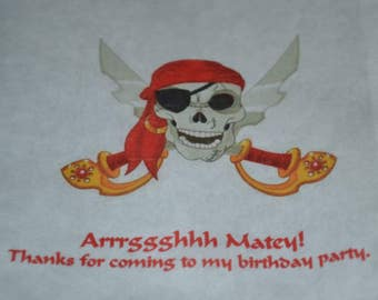 25 Ahoy Matey Birthday Favor Bag/Pirate Party Bags/Birthday Bags/Party Bags/Party Candy Bags/buffet Candy Bags/Candy Party Bag/Favor Bags