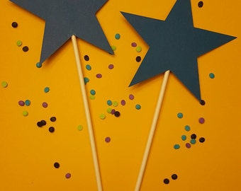 Cardstock Stars with or without food grade stick