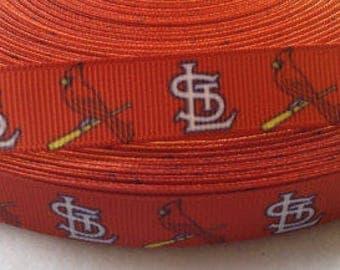 STL Cardinal Ribbon 7/8 Inch Grosgrain/ Polyester