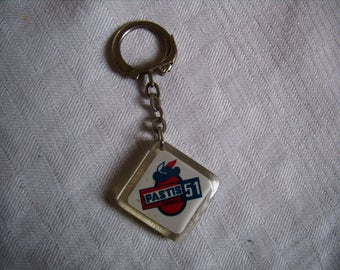 Door key advertising - Pastis 51 - french Vintage 1970 - Anisette, Ricard,