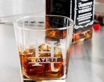 Monogram Engraved Whiskey Glass/Engraved Rocks Glass 9.25 oz. custom whiskey glass, engraved whiskey glass, personalized whiskey glasses