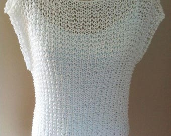 BECA, hand knitted cotton top