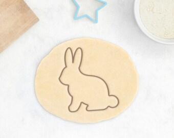 Imprimée en lapin Cookie Cutter - lapin Cookie Cutter Pâques animaux anniversaire mignon bébé douche Cookie Cutter - 3D