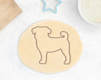 Pug Cookie Cutter - Custom Pug Cookies Personalized Pug Gift Pug Owner Gift Custom Dog Treat Chinese Pug Mops Cookie Cutter Carlin Gift
