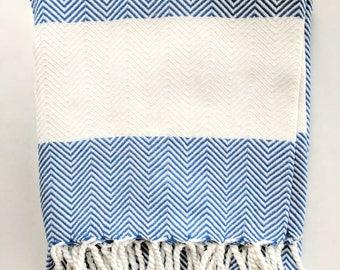 Tunisian Style Herringbone Fouta Towels